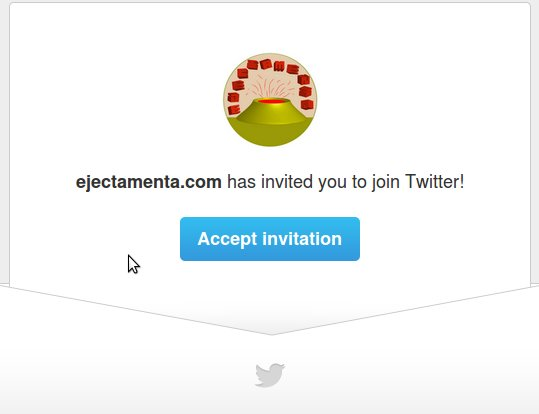 twitter friend email invite